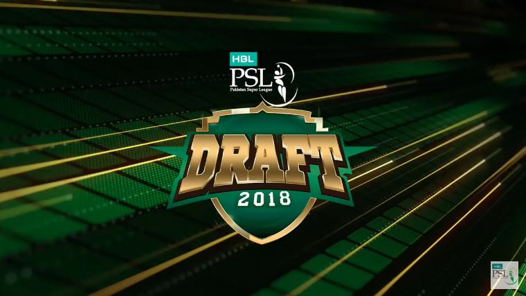 HBL PSL Player Draft 2018 for PSL 4